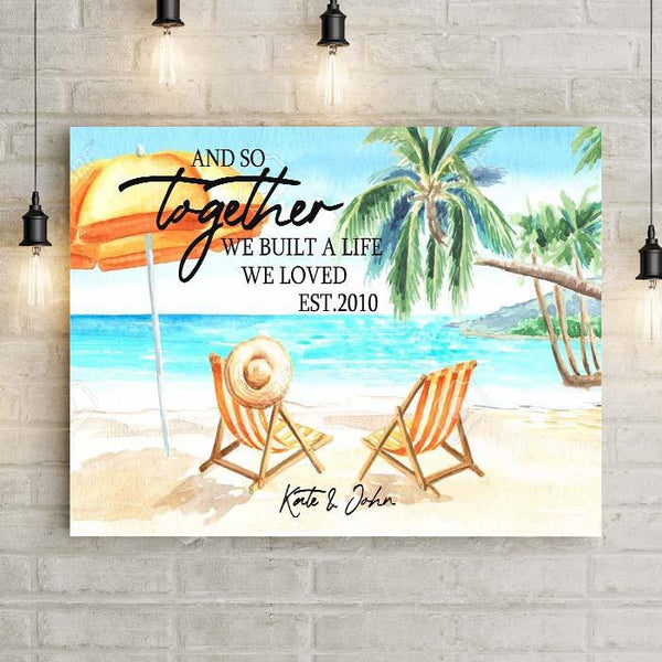 Personalized Together We Built Premium Canvas