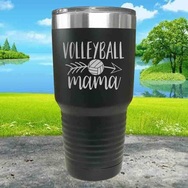 Volleyball Mama Engraved Tumbler Tumbler ZLAZER 30oz Tumbler Black