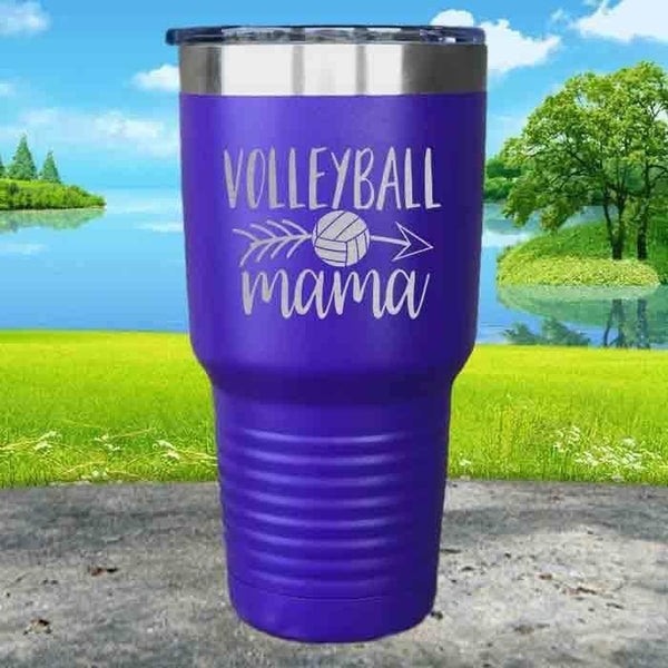 Volleyball Mama Engraved Tumbler Tumbler ZLAZER 30oz Tumbler Royal Purple
