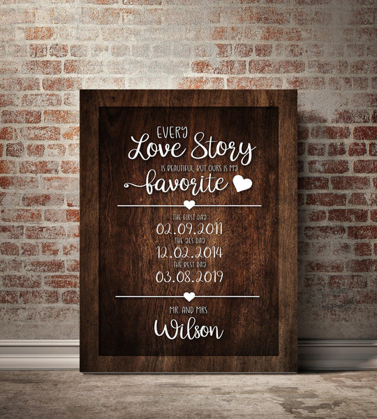 Our Love Story Personalized Premium Canvas