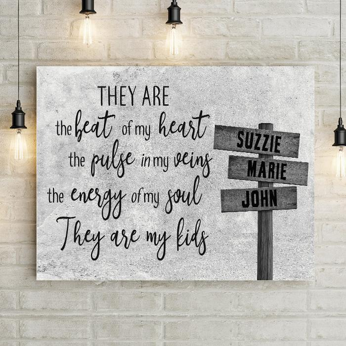They Are The Beat Of My Heart Personalized Premium Canvas