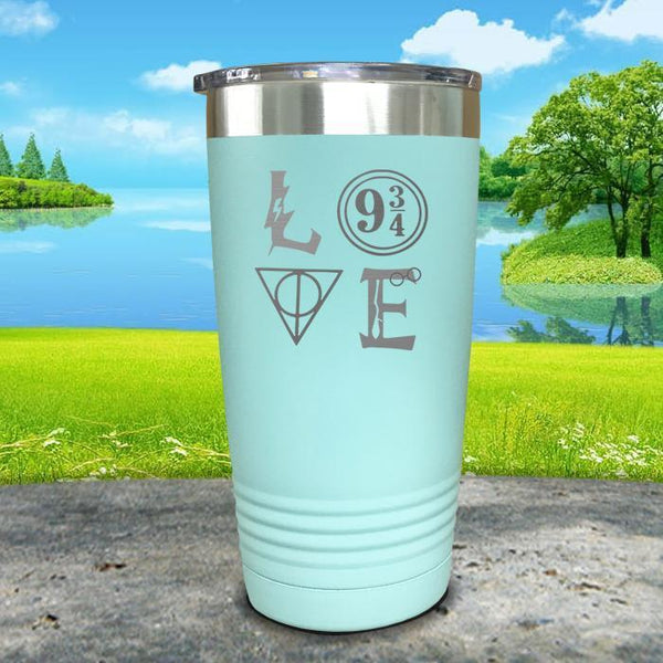 Love Wizard Magic Engraved Tumbler Tumbler ZLAZER 20oz Tumbler Mint