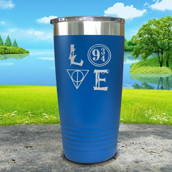 Love Wizard Magic Engraved Tumbler Tumbler ZLAZER 20oz Tumbler Blue