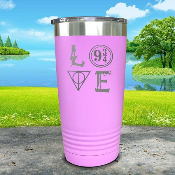 Love Wizard Magic Engraved Tumbler Tumbler ZLAZER 20oz Tumbler Lavender