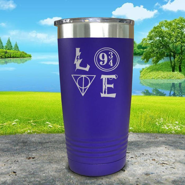 Love Wizard Magic Engraved Tumbler Tumbler ZLAZER 20oz Tumbler Royal Purple