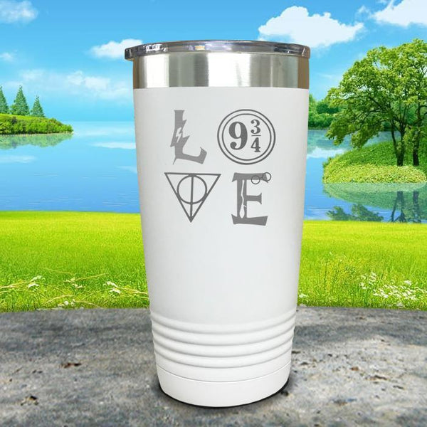 Love Wizard Magic Engraved Tumbler Tumbler ZLAZER 20oz Tumbler White