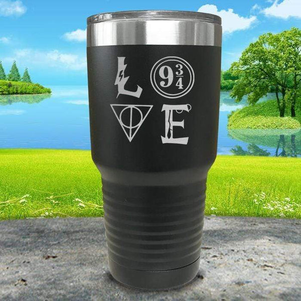 Love Wizard Magic Engraved Tumbler Tumbler ZLAZER 30oz Tumbler Black