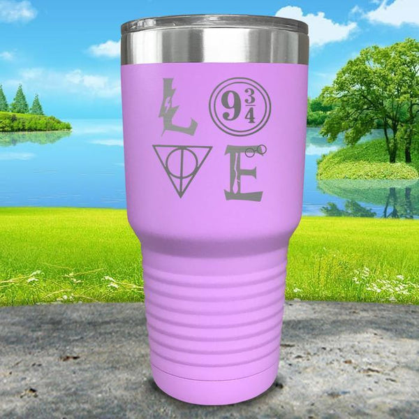 Love Wizard Magic Engraved Tumbler Tumbler ZLAZER 30oz Tumbler Lavender