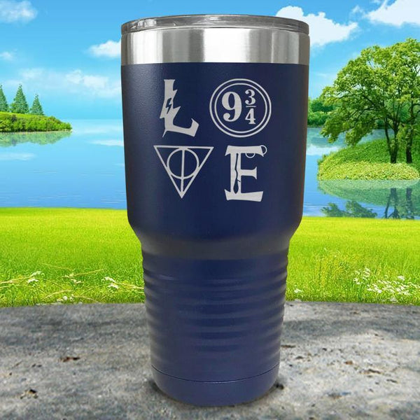 Love Wizard Magic Engraved Tumbler Tumbler ZLAZER