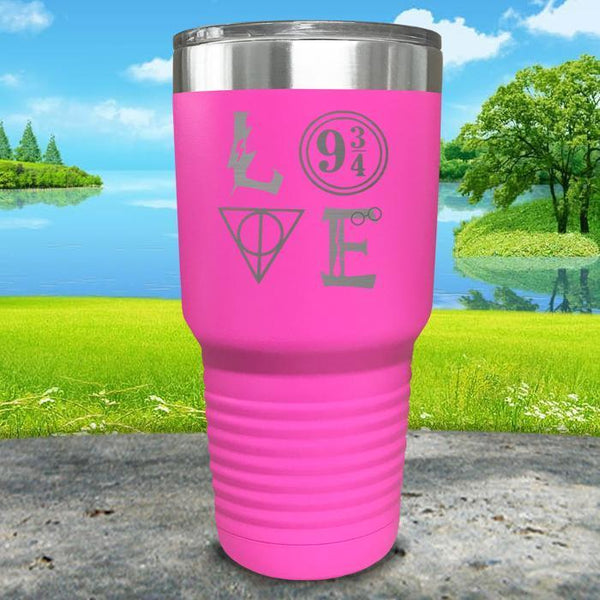 Love Wizard Magic Engraved Tumbler Tumbler ZLAZER 30oz Tumbler Pink
