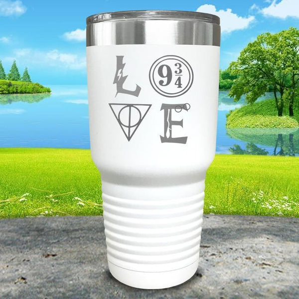 Love Wizard Magic Engraved Tumbler Tumbler ZLAZER 30oz Tumbler White