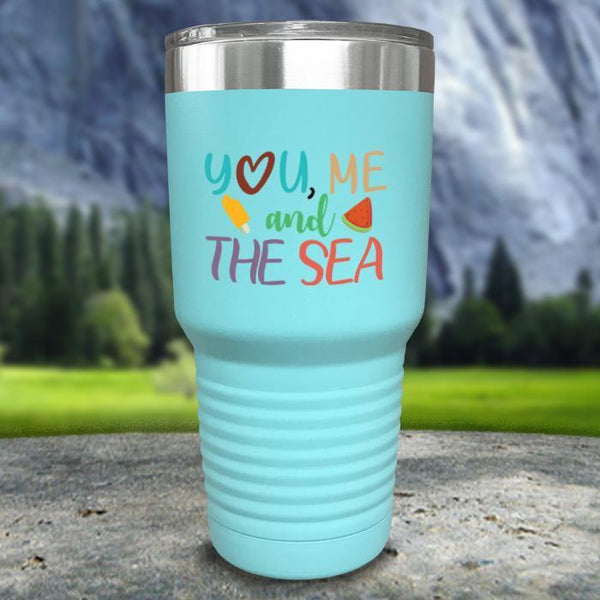 You Me and The Sea Color Printed Tumblers Tumbler Nocturnal Coatings 30oz Tumbler Lavender