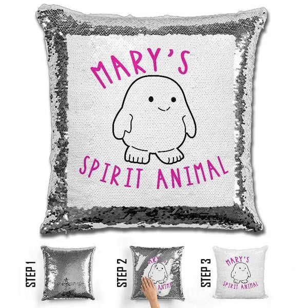 Adipose Personalized Magic Sequin Pillow Pillow GLAM