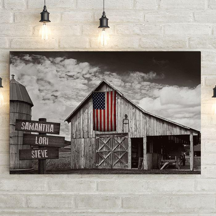 american-flag-old-barn-personalized-custom-canvas-print