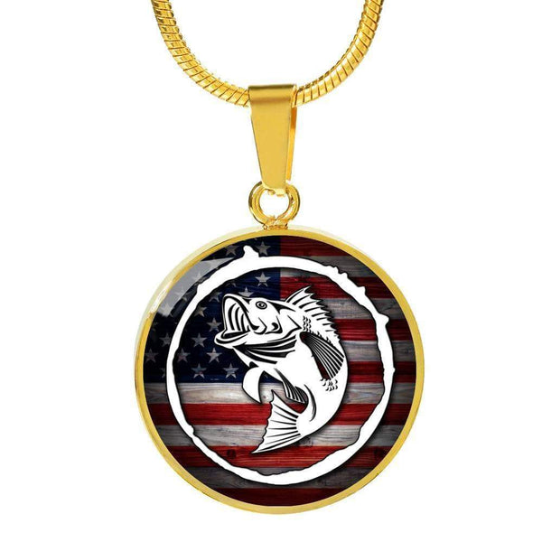 American Fishing Premium Necklace & Bracelets Jewelry ShineOn Fulfillment Luxury Necklace (Gold) No