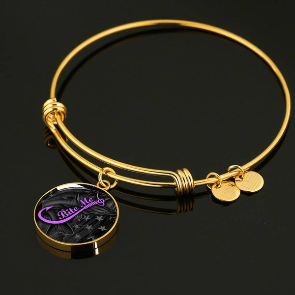 Bite Me Fishing Premium Necklaces & Bracelets Jewelry ShineOn Fulfillment Luxury Bangle (Gold) No