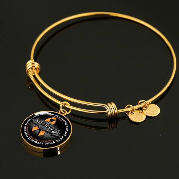 Strong Is Only Choice Premium Necklaces & Bracelets Jewelry ShineOn Fulfillment Luxury Bangle (Gold) No