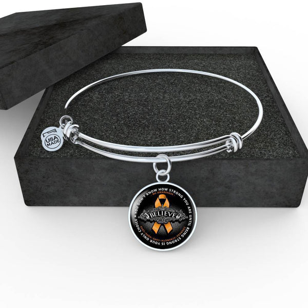 Strong Is Only Choice Premium Necklaces & Bracelets Jewelry ShineOn Fulfillment Luxury Bangle (Silver) No