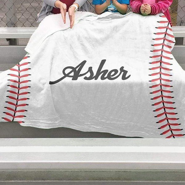 Baseball Personalized Sherpa Blanket Blankets Lemons Are Blue