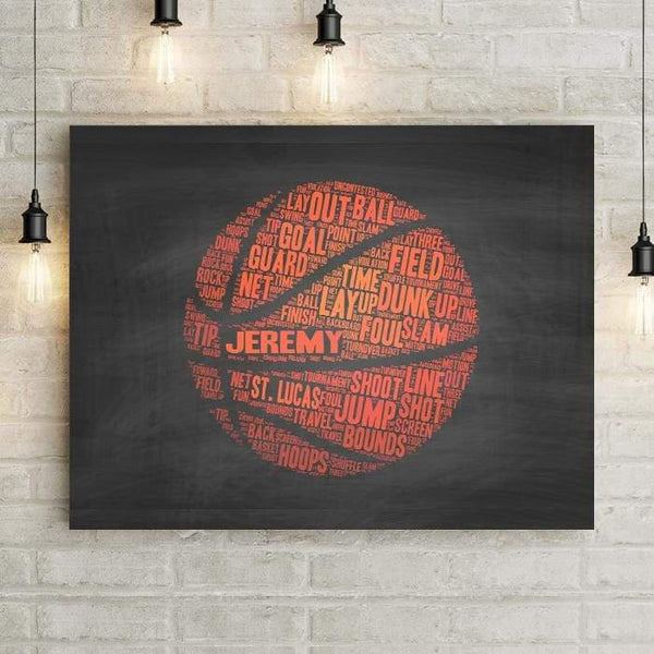 Basketball Personalized Premium Canvas-LemonsAreBlue