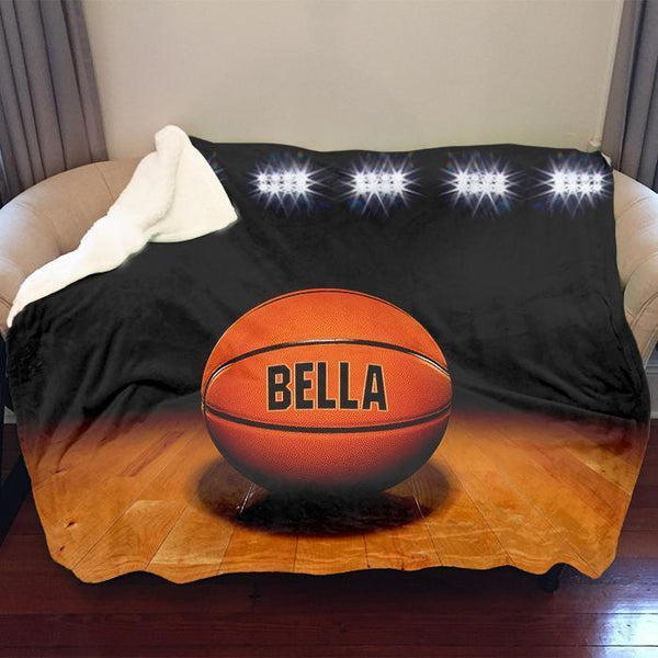 Basketball Personalized Sherpa Blanket Blankets Lemons Are Blue 50x60