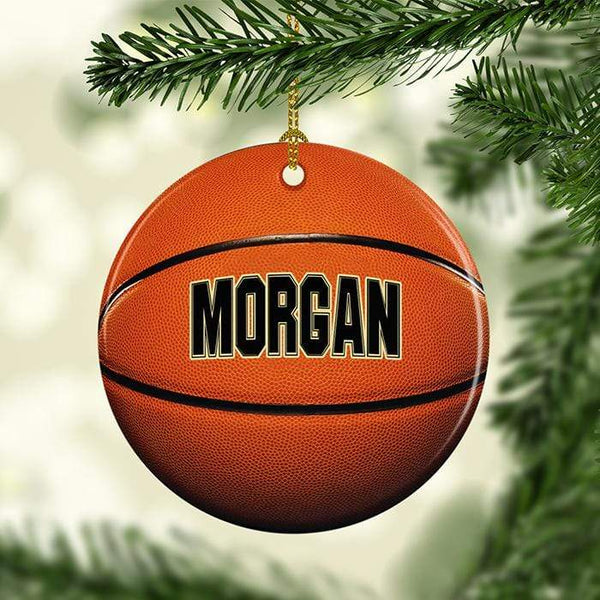 Basketball Personalized Ceramic Ornaments