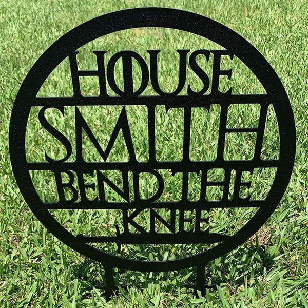 Personalized Bend The Knee Yard Sign (100% American Made) Yard Sign Nocturnal Coatings