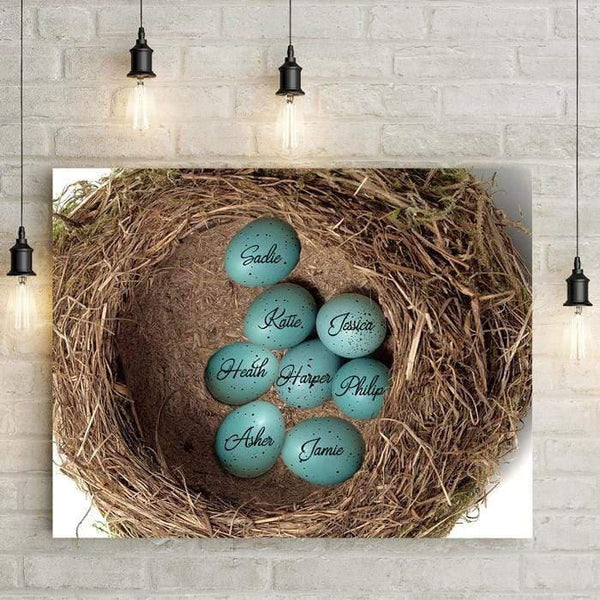 "Nest Personalized 24x16"" Canvas-LemonsAreBlue"
