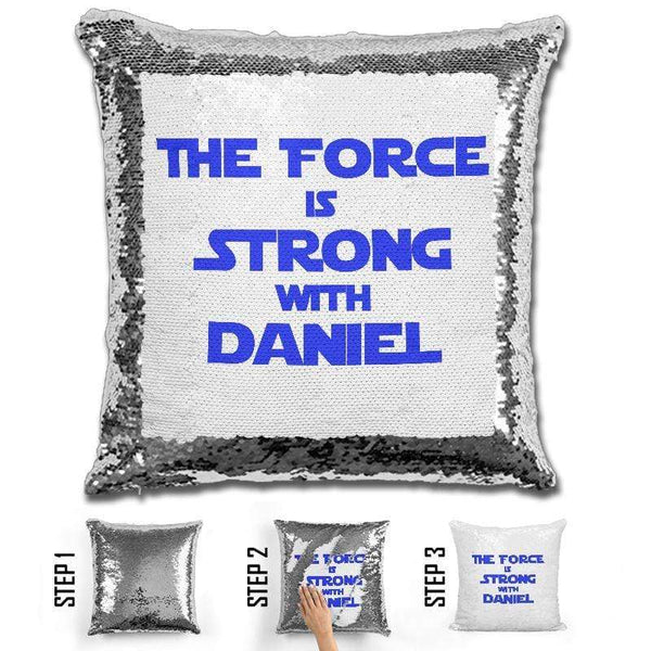 Force Personalized Magic Sequin Pillow Pillow GLAM
