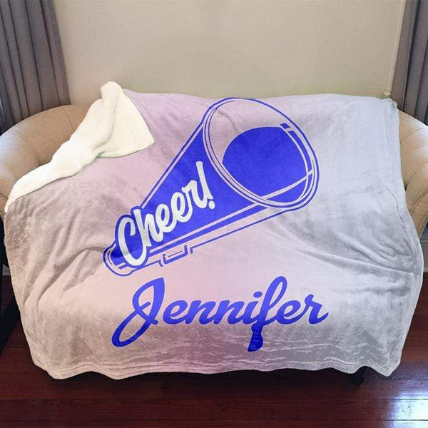Cheerleader Personalized Sherpa Blanket Blankets Lemons Are Blue 50x60 Blue