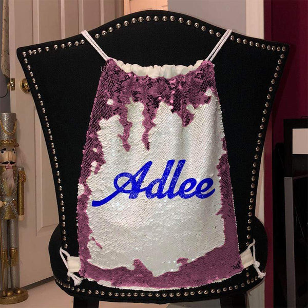 Personalized Magic Sequin Name Backpacks Sequin Backpack BLINGZ Pink Blue