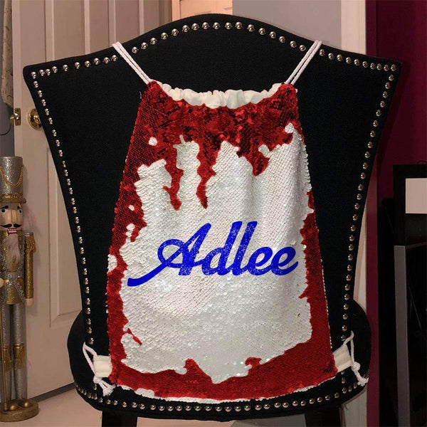 Personalized Magic Sequin Name Backpacks Sequin Backpack BLINGZ Red Blue