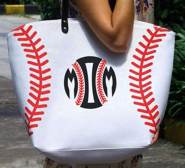 Softball Baseball MOM Premium Tote Bags Edge Baseball