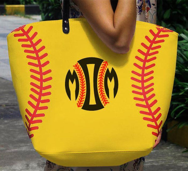 Softball Baseball MOM Premium Tote Bags Edge Softball