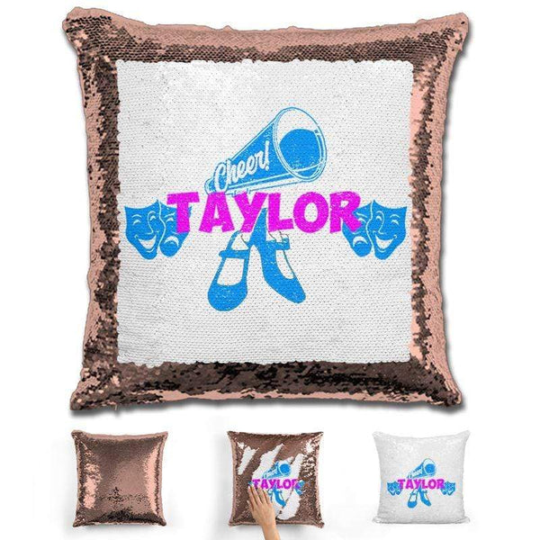 Cheer Dance and Drama Personalized Magic Sequin Pillow Pillow GLAM