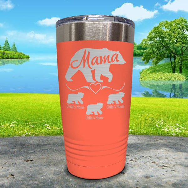 Mama Bear (CUSTOM) With Child's Name Engraved Tumblers