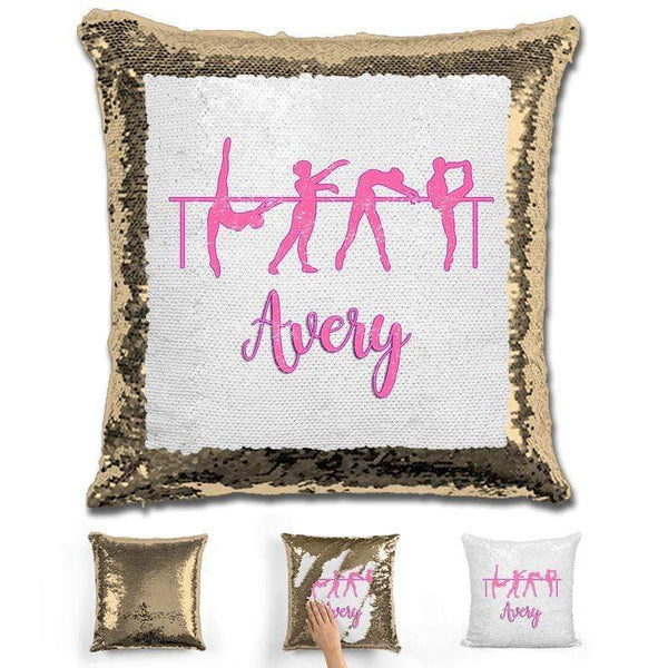 Dance Personalized Magic Sequin Pillow Pillow GLAM Gold