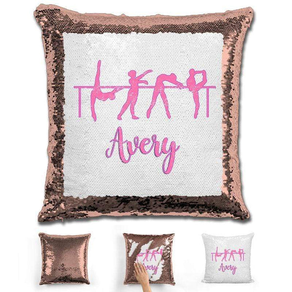 Dance Personalized Magic Sequin Pillow Pillow GLAM Rose Gold