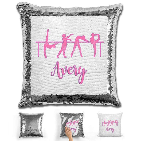 Dance Personalized Magic Sequin Pillow Pillow GLAM Silver
