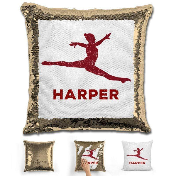 Dancer Personalized Magic Sequin Pillow Pillow GLAM Gold