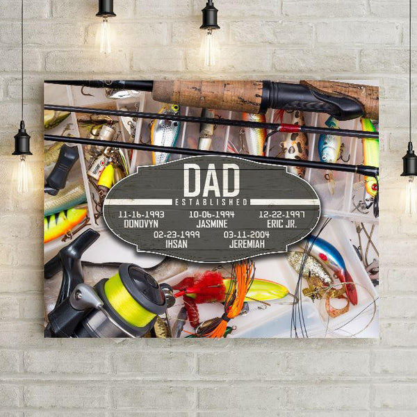 Dad Established Personalized Sports Premium Canvas