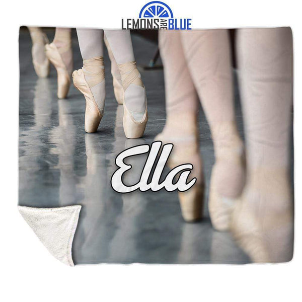 Ballet Personalized Sherpa Blanket Blankets Lemons Are Blue