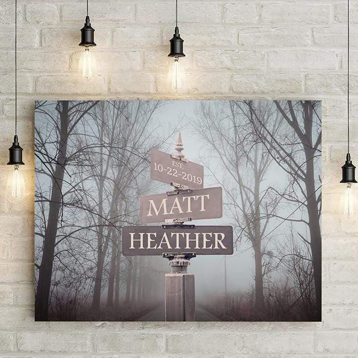 Street Signs Personalized Premium Canvas-LemonsAreBlue
