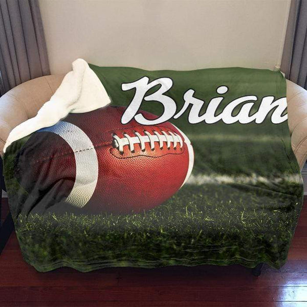 "Football Personalized Sherpa Blanket Blankets Lemons Are Blue 50""x60"" Sherpa"
