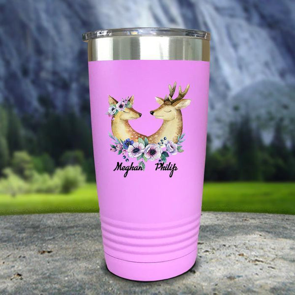Buck and Doe Personalized Color Printed Tumblers Tumbler Nocturnal Coatings 20oz Tumbler Lavender