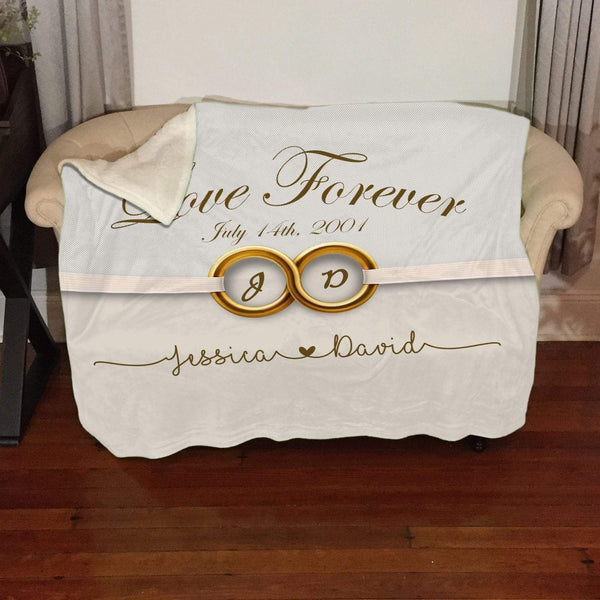 Love Forever Infinity Personalized Sherpa Blanket Blankets Lemons Are Blue