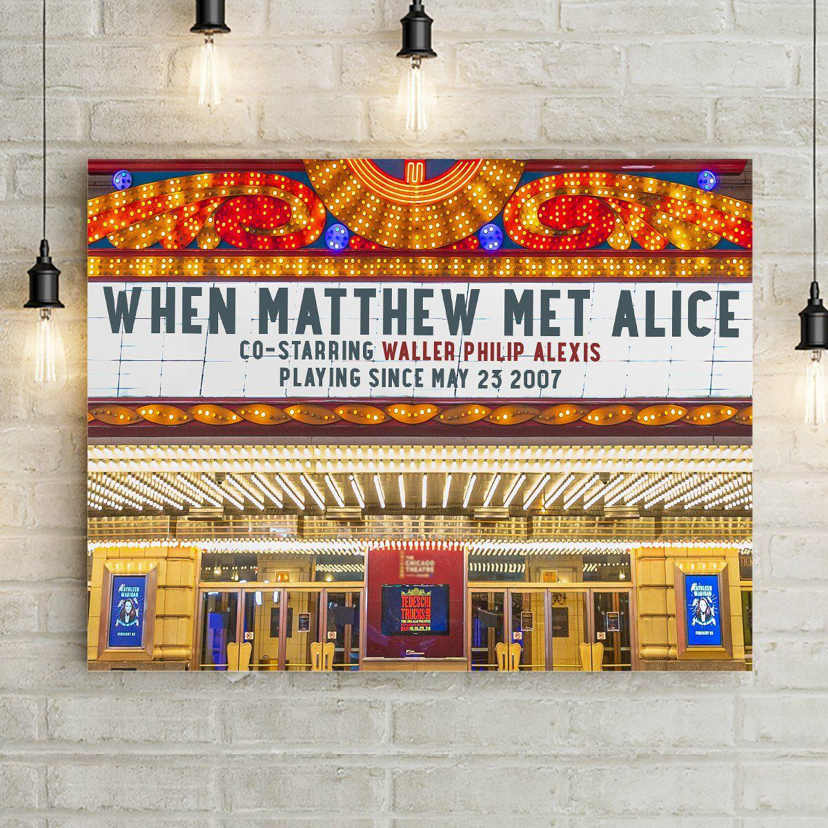 Theater Marquee Personalized Premium Canvas