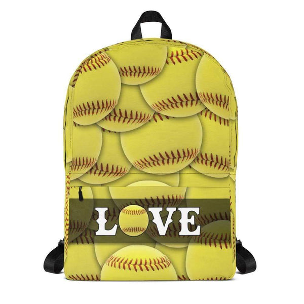 Popular Love Softball Backpack Lemons Are Blue Default Title