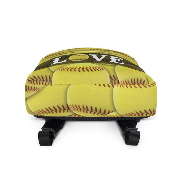 Popular Love Softball Backpack Lemons Are Blue