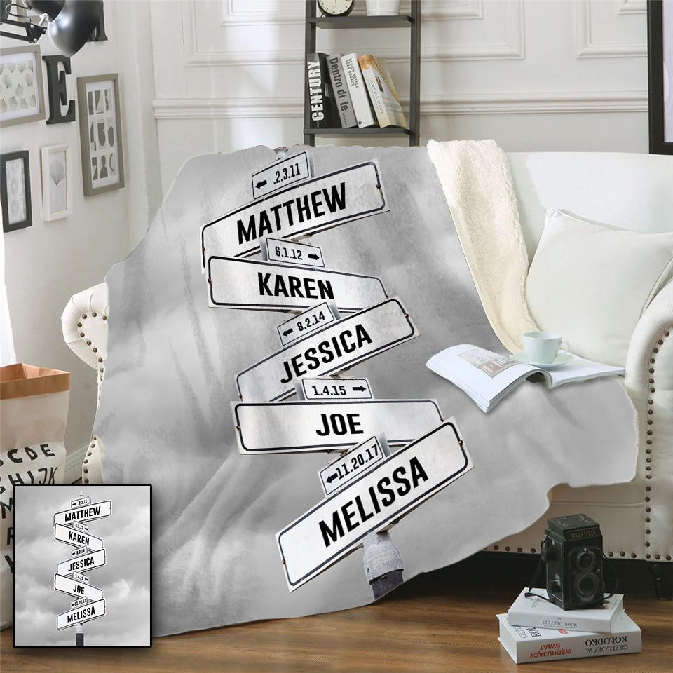 Kids Name Sign Personalized Blankets - s